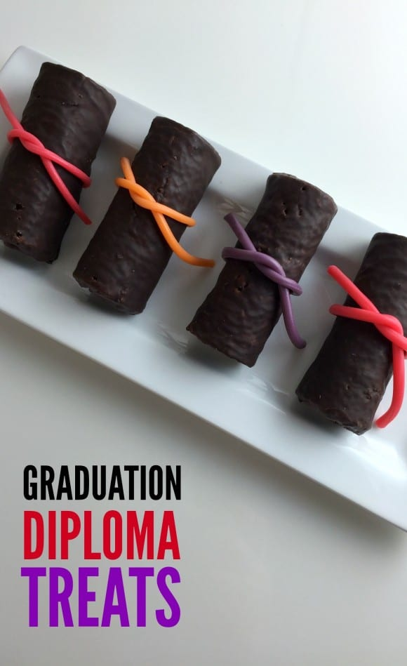 Quick and Easy Graduation Diploma Treats | CatchMyParty.com
