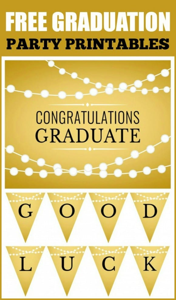 Free Gold Graduation Printables | CatchMyParty