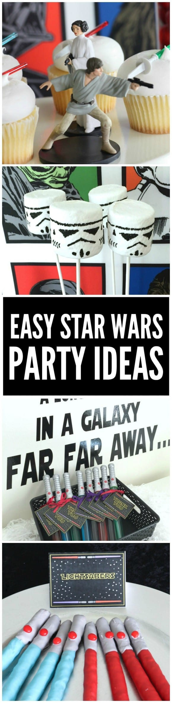 How to throw an easy Star Wars party + Star Wars  free party printables | CatchMyParty.com