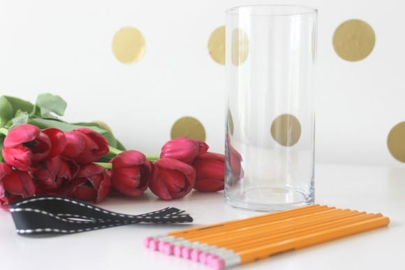 Pencil Vase DIY Supplies | CatchMyParty.com