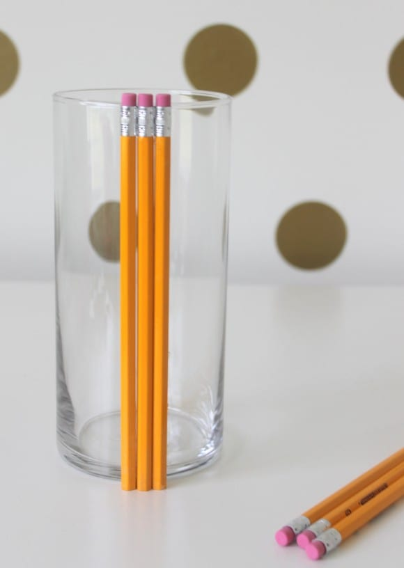 Materials for the Pencil Vase | CatchMyParty.com