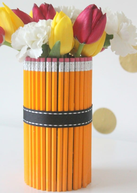 Pencil Vase DIY Teacher Gift | CatchMyParty.com
