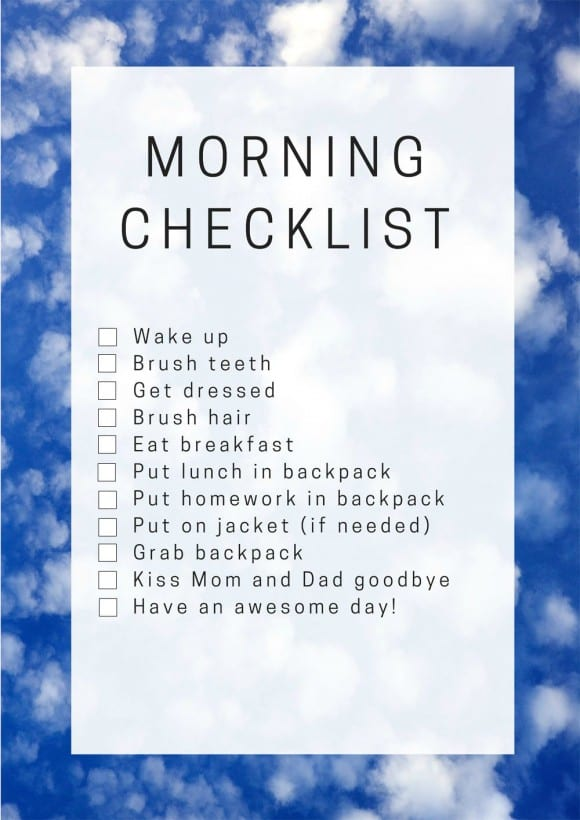 This back-to-school morning checklist had makes our transition back to school so much easier | CatchMyParty.com