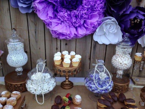 Purple bridal shower | CatchMyParty.com