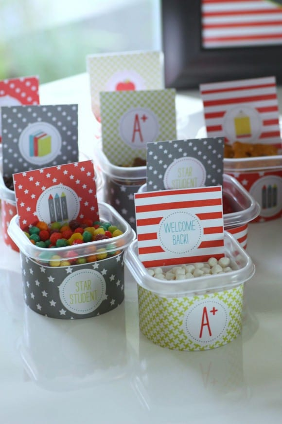 Back To School DIY Pudding Bar | CatchMyParty.com