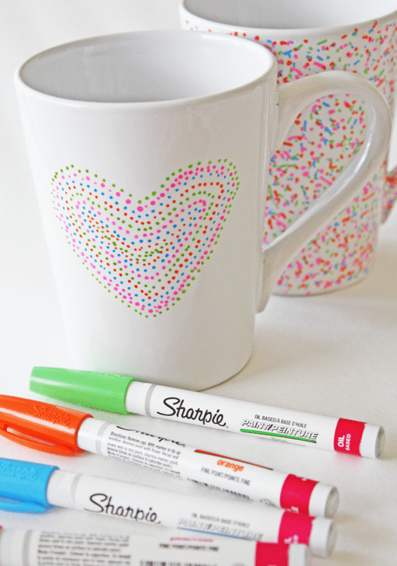 Dishwasher Safe Sharpie Mug DIY | CatchMyParty.com