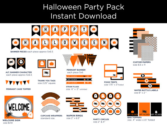 Halloween Party Pack from Spark And Delight | CatchMyParty.com