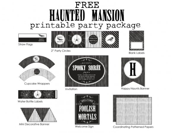 Free Haunted Mansion Printable Party Package by Northwest Lovelies | CatchMyParty.com