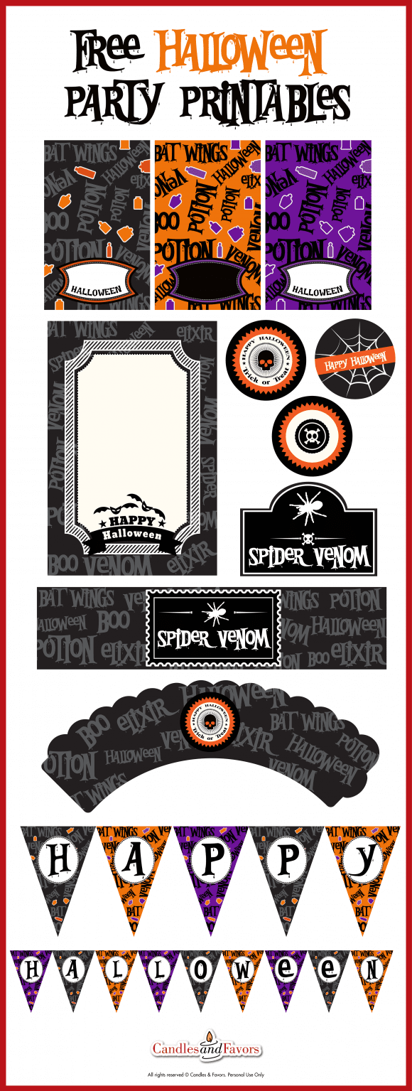 image about Printable Halloween Birthday Invitations known as Web site Content inside the Classification Printables (Free of charge Halloween) Webpage