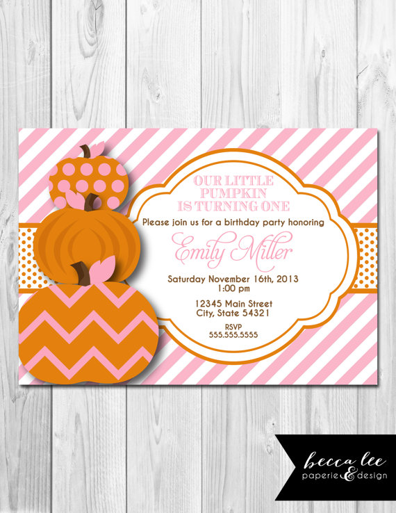 Girl Halloween 1st Birthday Invitation By Becca Lee Paperie