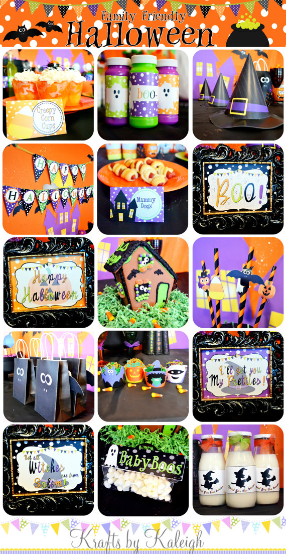 Halloween Party Pack by Krafts by Kaleigh | CatchMyParty.com