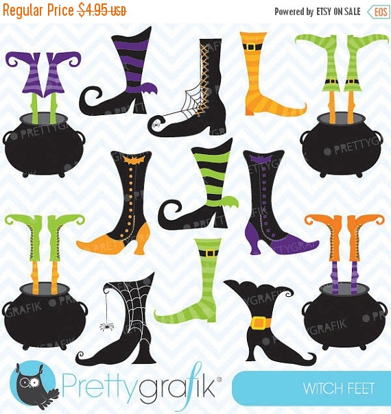 Witch Feet Clipart from PrettyGrafik Design | CatchMyParty.com