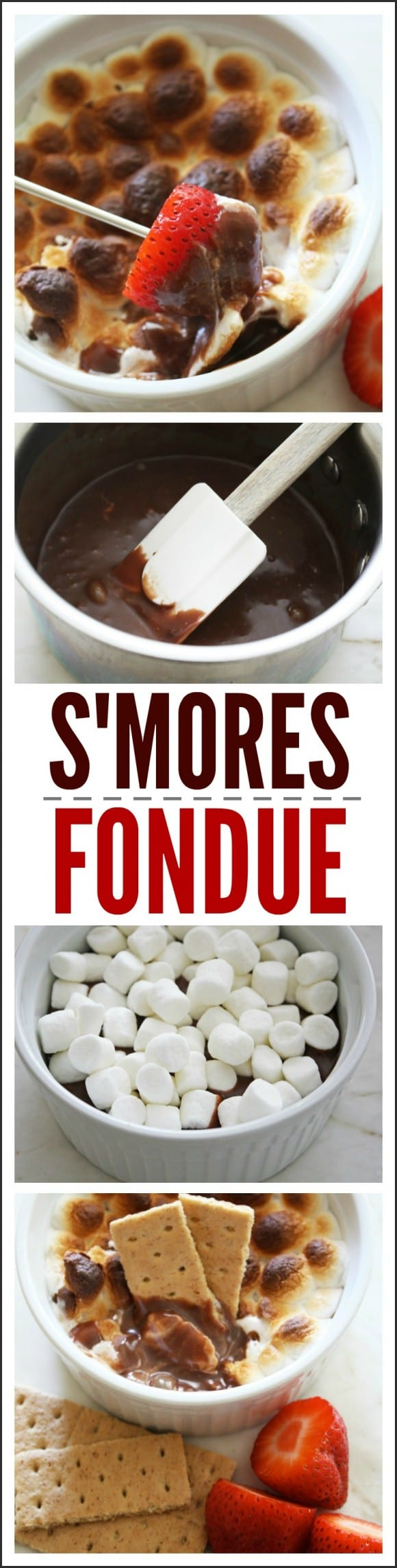 S'mores Fondue Recipe | CatchMyParty.com