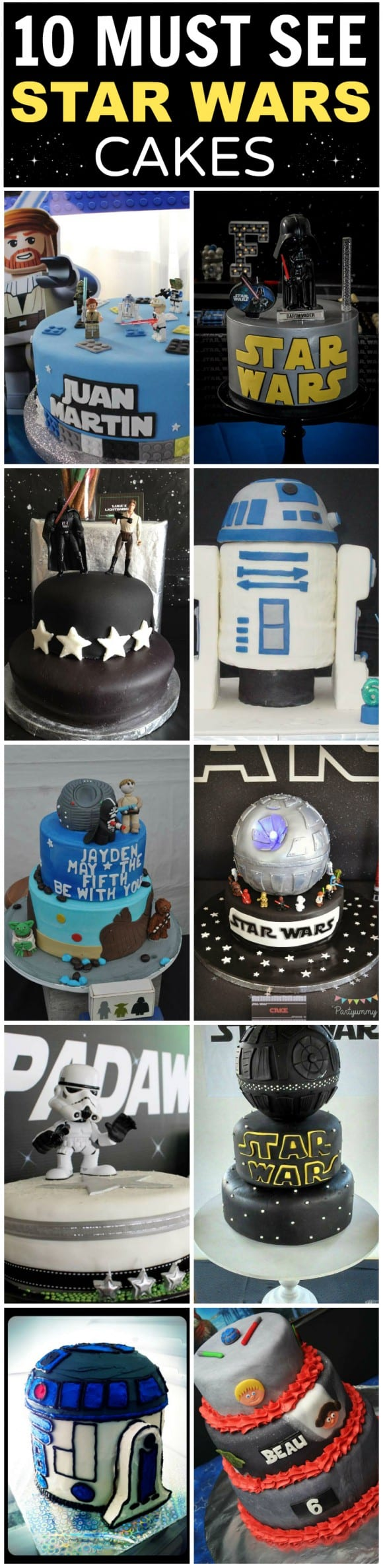 10 Must-See Star Wars Birthday Cakes -- Great inspiration for your Star Wars party! | CatchMyParty.com