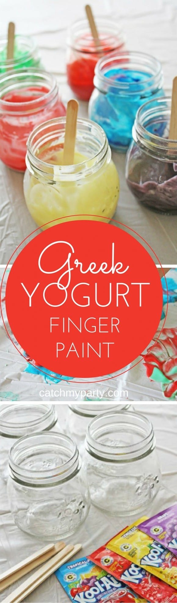 Greek Yogurt Finger Paint | CatchMyParty.com