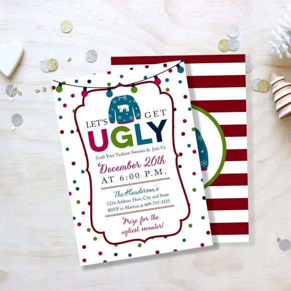 Ugly Sweater Party Invitation | CatchMyParty.com
