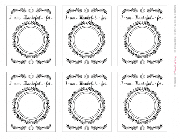 "Free Printable ""With Thankful Hearts"" Thanksgiving Cards 