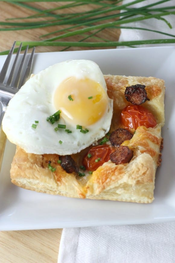Sausage and Egg Breakfast Pastry Recipe | CatchMyParty.com
