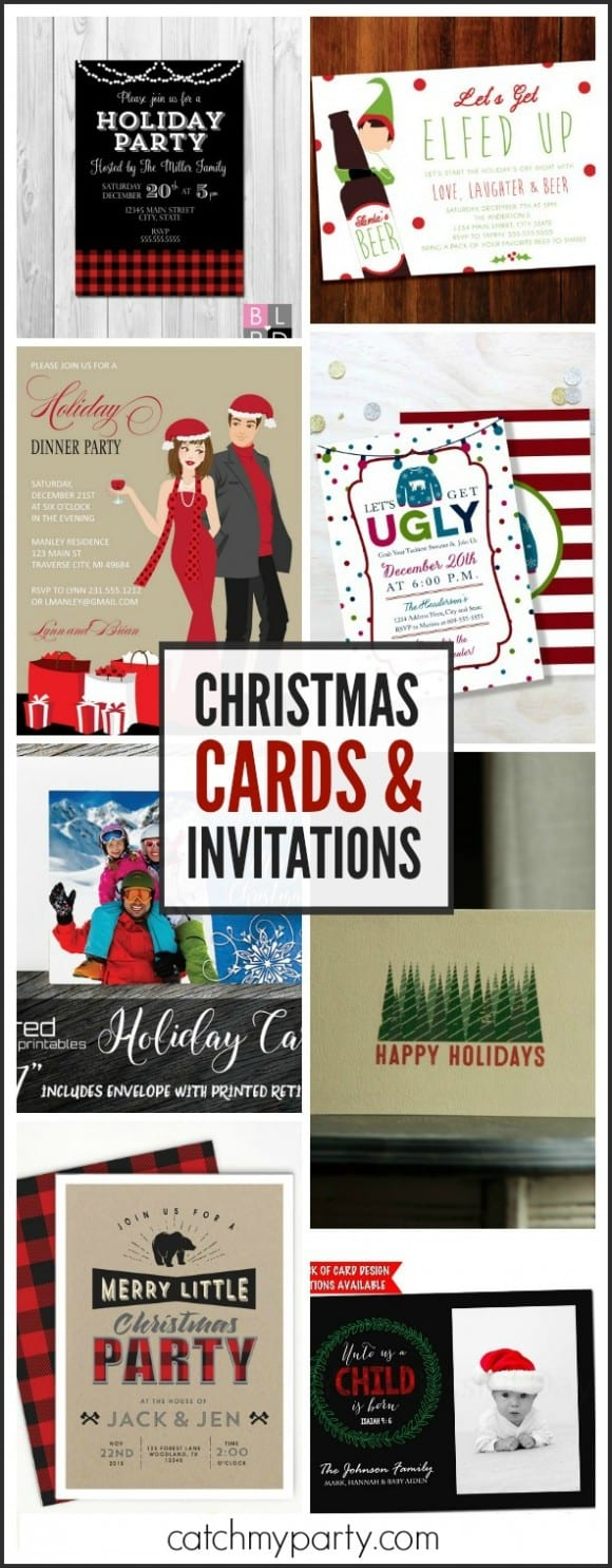 My favorite Christmas Cards and Invitations | CatchMyParty.com