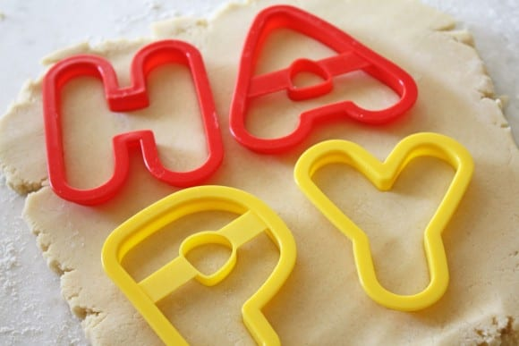 Making New Years Letter Cookies | CatchMyParty.com