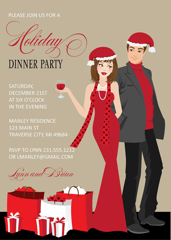 Couples Christmas Party Invitation | CatchMyParty.com