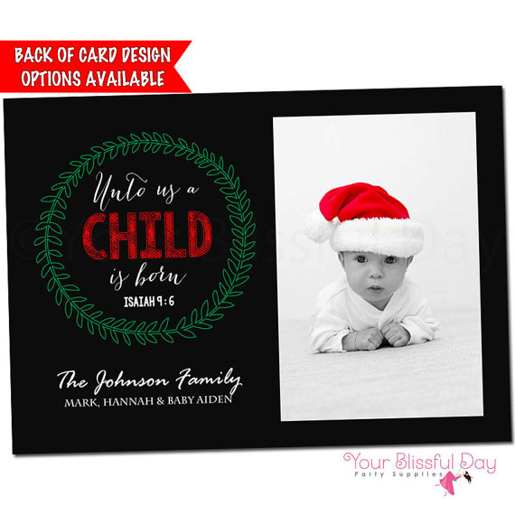 Baby Photo Christmas Card | CatchMyParty.com