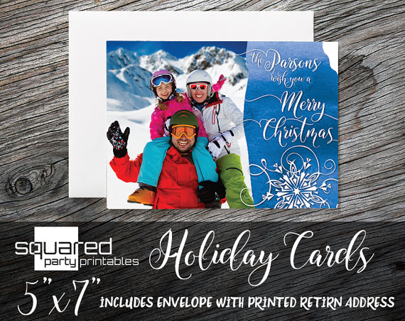Photo Holiday Card | CatchMyParty.com