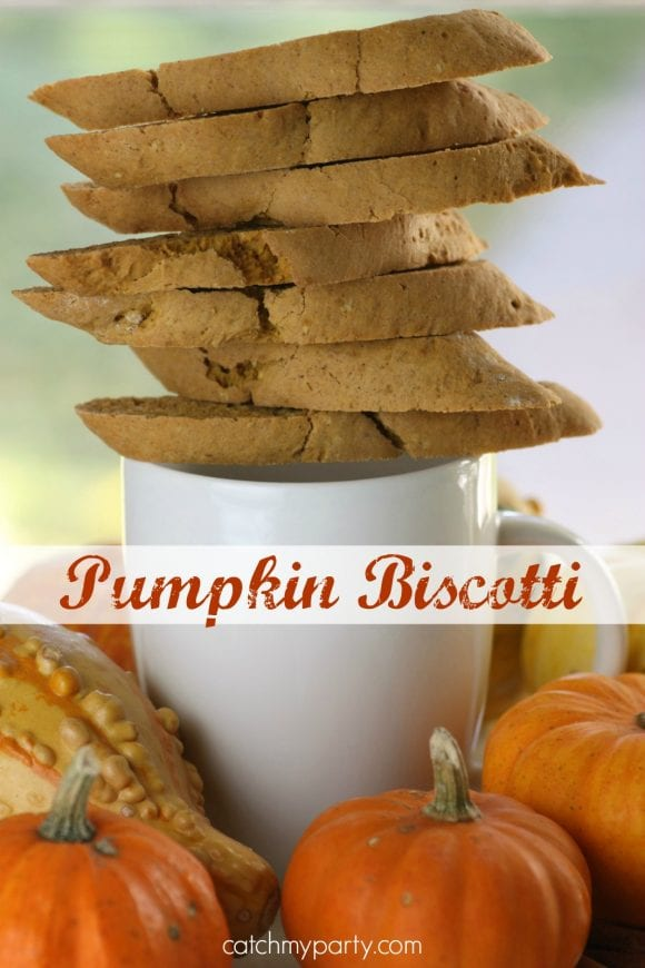 Easy Pumpkin Biscotti | CatchMyParty.com