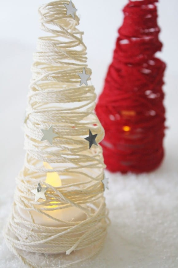 Hemp Cord Christmas Tree DIY | CatchMyParty.com