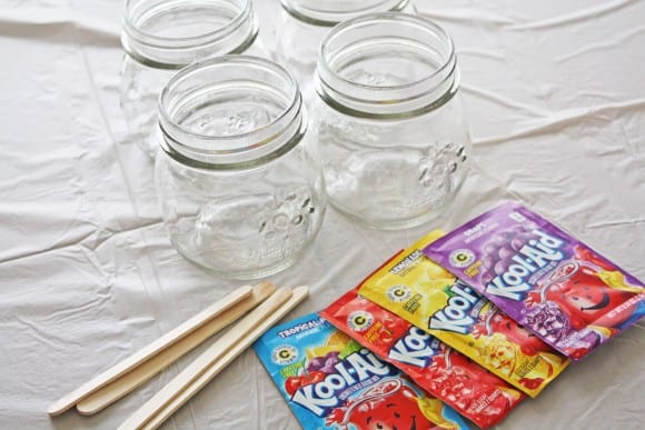 Greek yogurt Koolaid finger paint | CatchMyParty.com