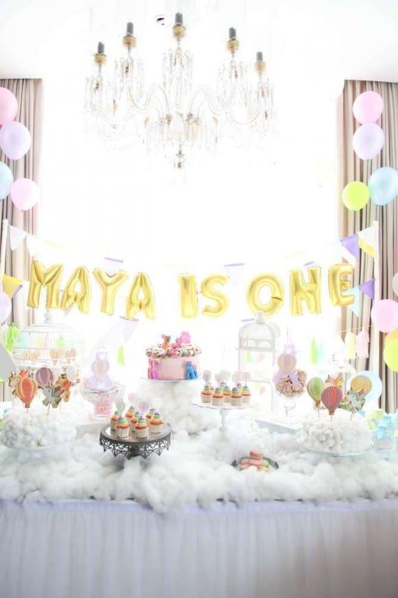 10 Most Popular Girl 1st Birthday Themes & Ideas - Hot Air Balloon Party| CatchMyParty.com