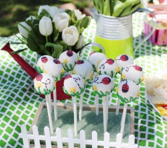 Girl 1st Birthday Ladybug party | CatchMyParty.com