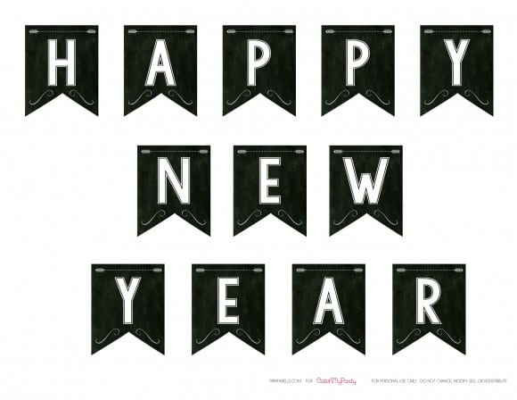 Free Happy New Year Banner | CatchMyParty.com