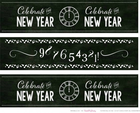 Free New Year's Chalkboard Drink Labels | CatchMyParty.com