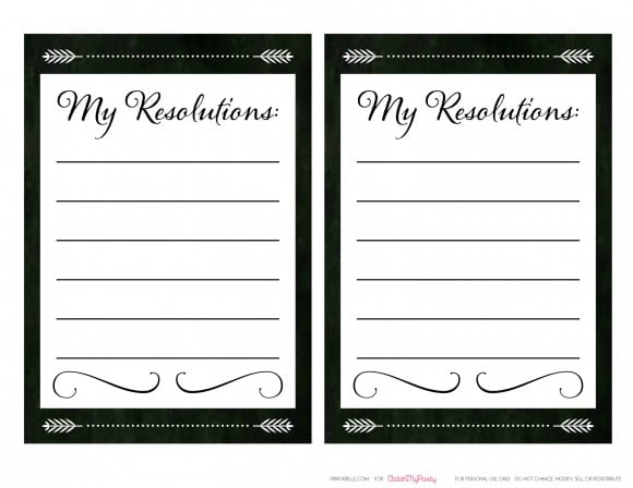 Free New Year's Resolution Cards | CatchMyParty.com