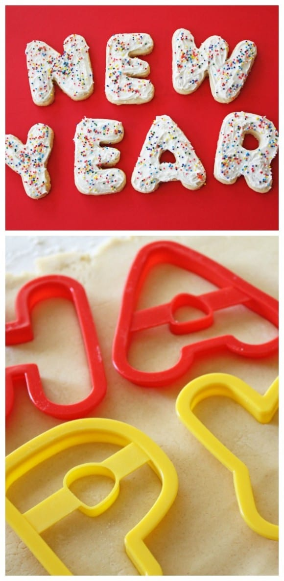Happy New Year Letter Cookies| CatchMyParty.com