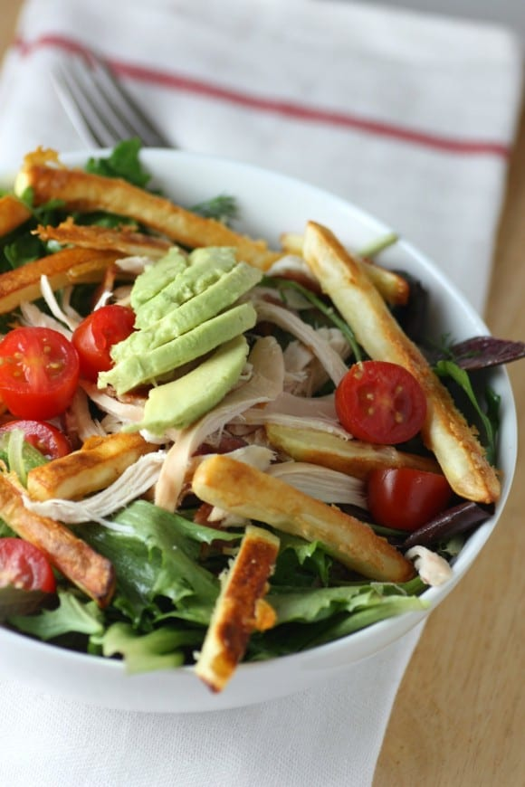 Chicken French Fry Salad Recipe | CatchMyParty.com