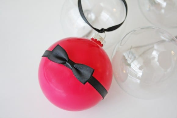 Kate Spade Ornament DIY | CatchMyParty.com