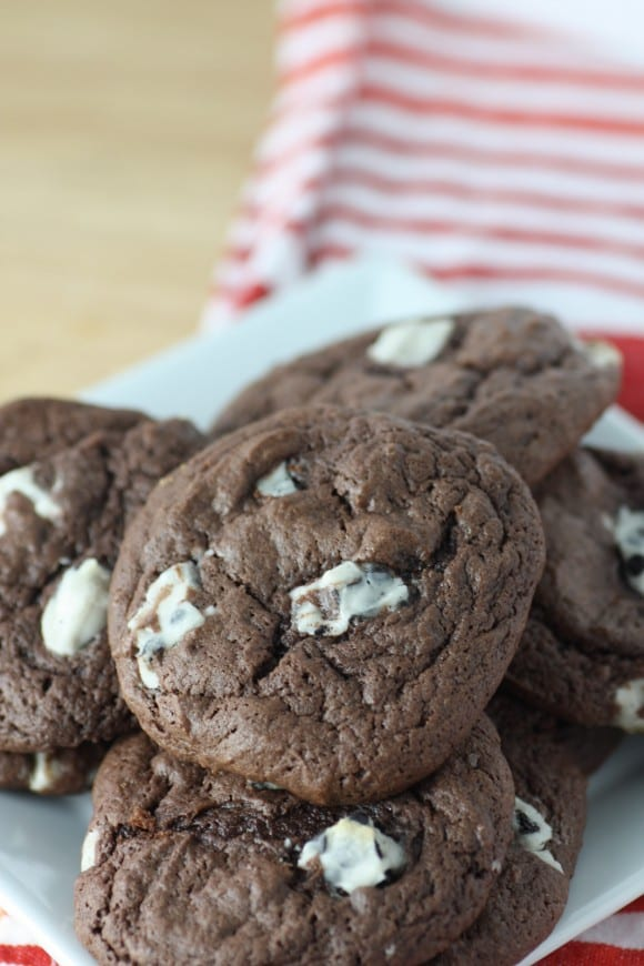 Chocolate Cake Batter Cookies With Cookies and Cream | CatchMyParty.com