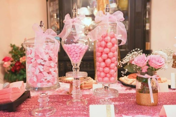 Pink and Gold Parties- Baby Shower! | CatchMyParty.com