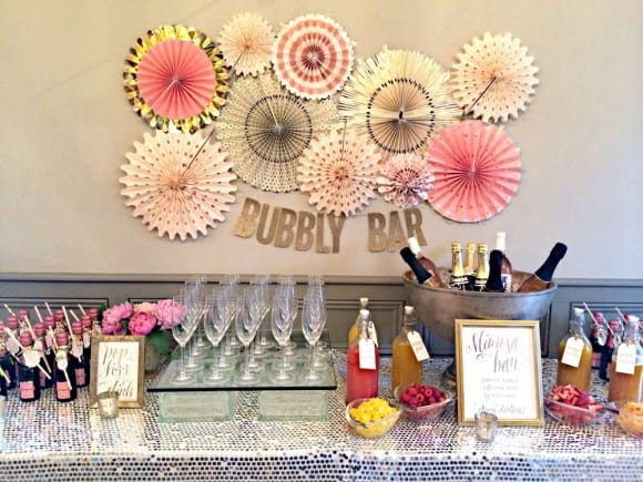 Pink and gold bridal shower | CatchMyParty.com