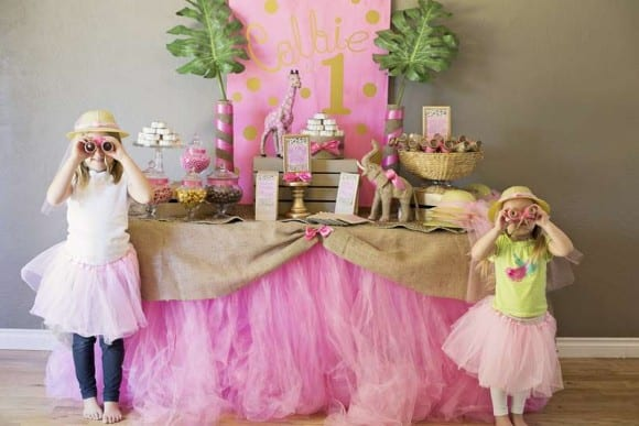 Pink and gold parties - safari birthday | CatchMyParty.com
