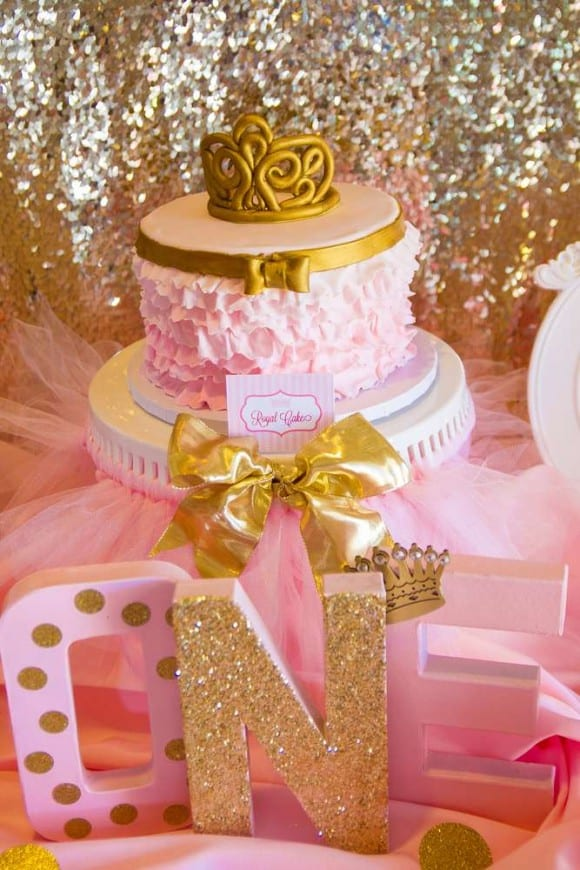Pink and gold parties - 1st birthday | CatchMyParty.com