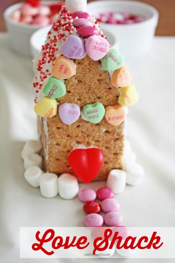 Valentine's Day Love Shack DIY | CatchMyParty.com