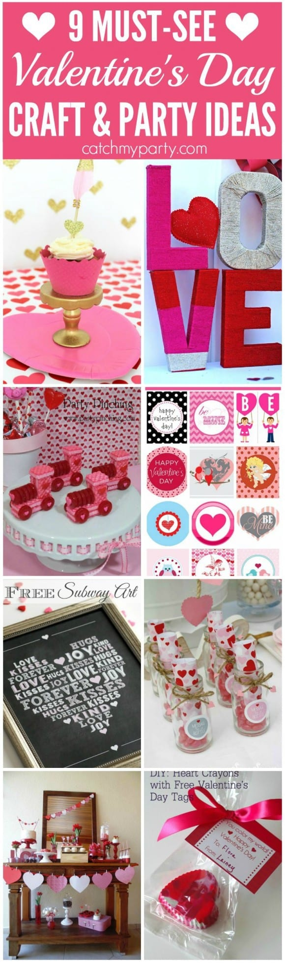 9 Must-See Valentine's Day Crafts & Party Ideas | CatchMyParty.com