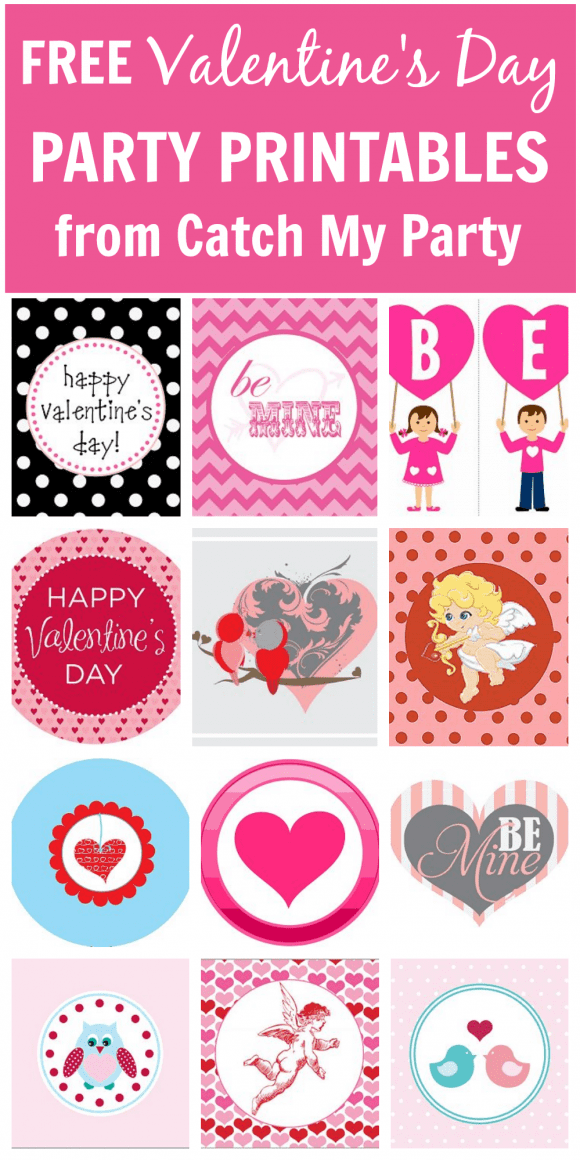 Free Valentine's Day Party Printables | CatchMyParty.com