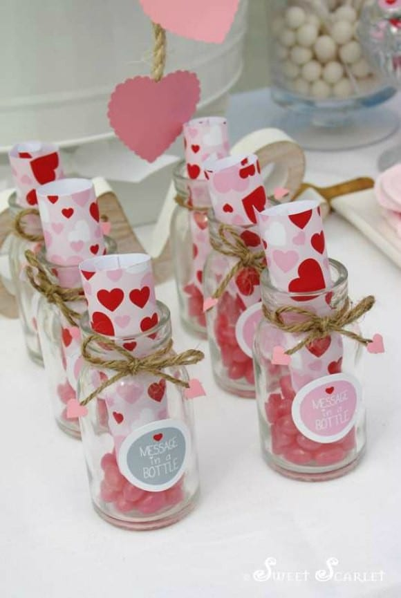 Valentine's Day Message in a Bottle Craft | CatchMyParty.com