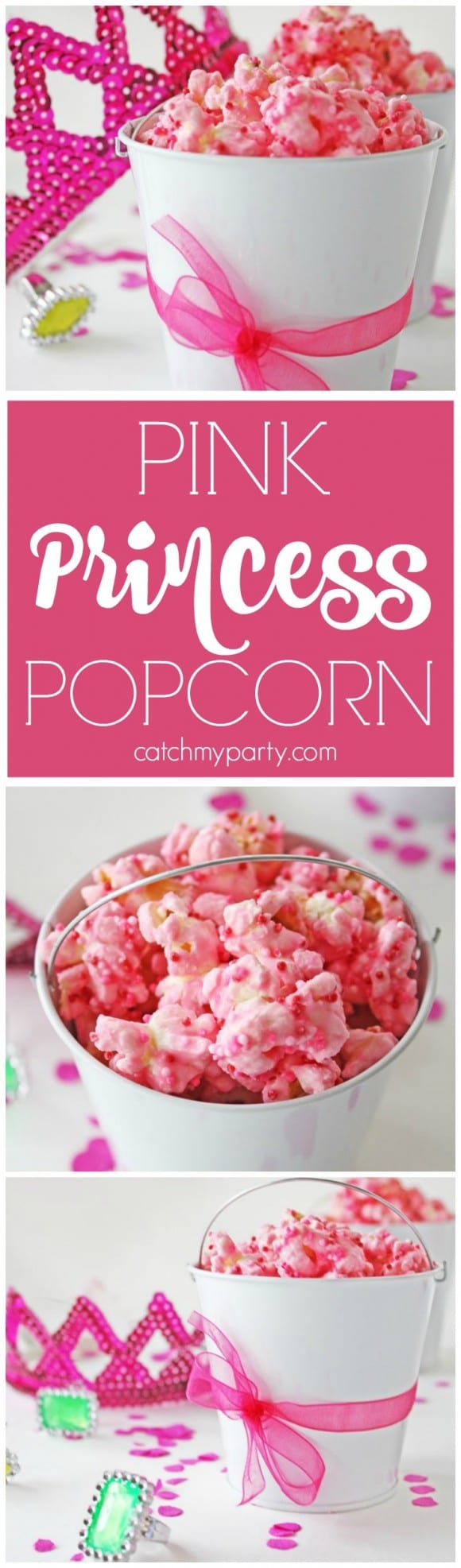 Pink princess popcorn | CatchMyParty.com
