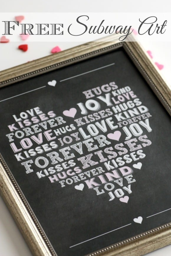 Free Printable Love Subway Art | CatchMyParty.com