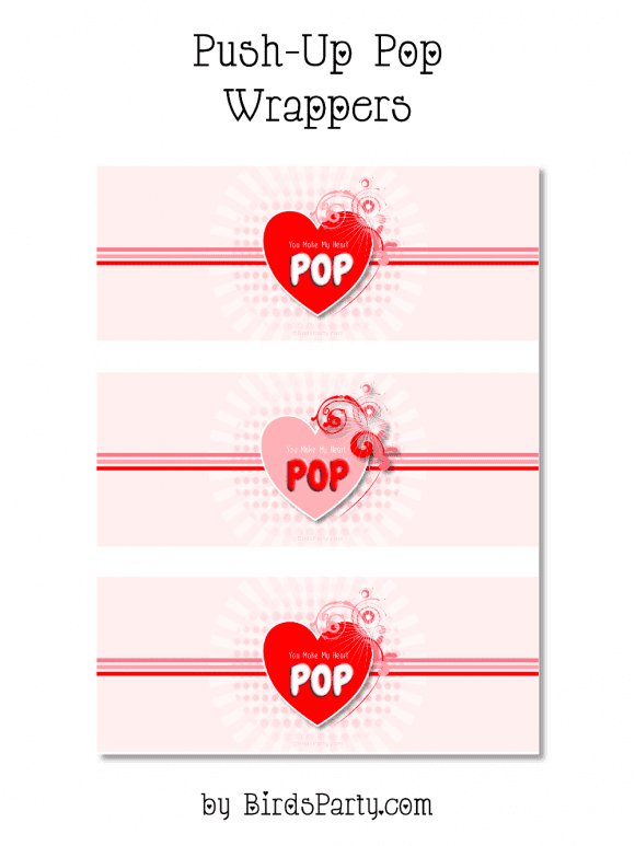 Free Valentine's Day Push Pop Printables | CatchMyParty.com